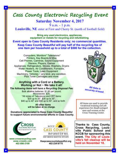 Louisville Recycling event