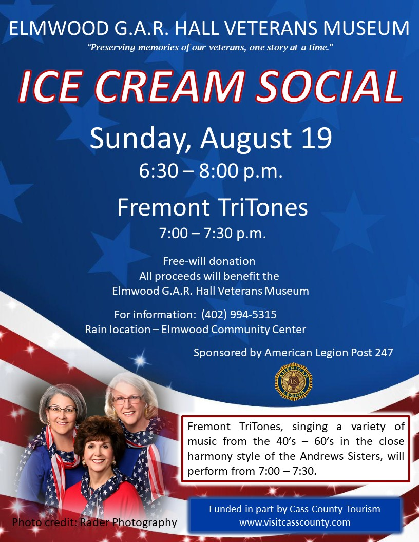 Ice Cream Social flyer 2018