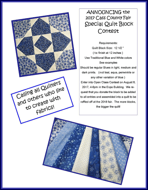 2017 05 03 CC Fair Quilt Block Contest Flyer
