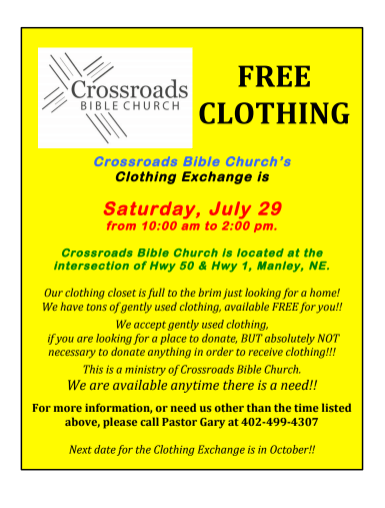 Crossroad Clothing Drive