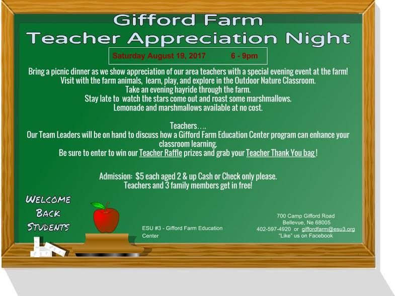 Gifford Farm Teacher Appreciation Night
