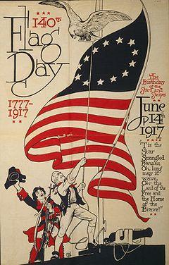 US Flag Day poster 1917