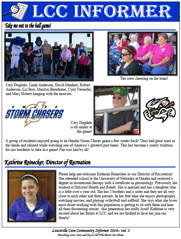 LCC Summer Newsletter a