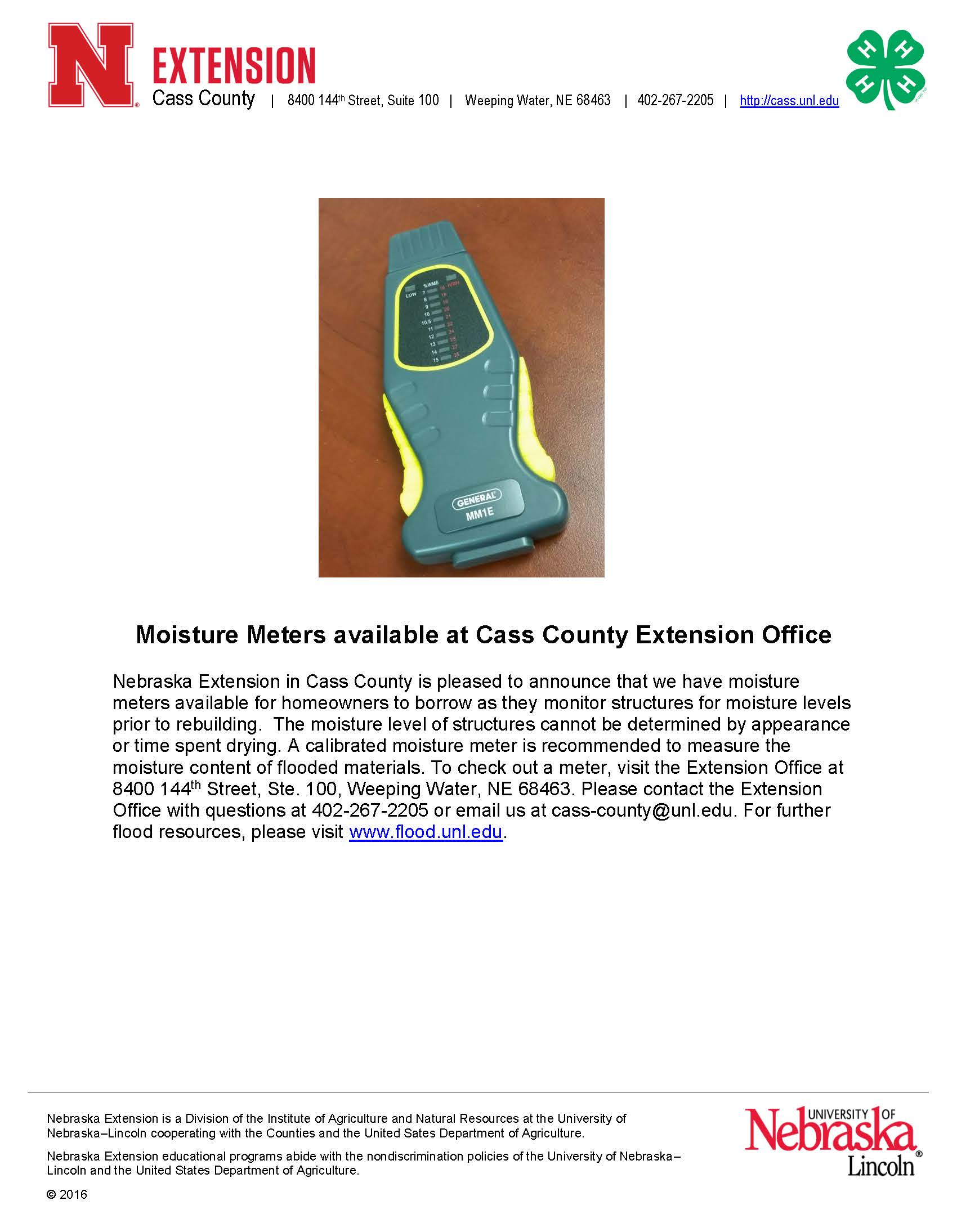 News Release Moisture Readers