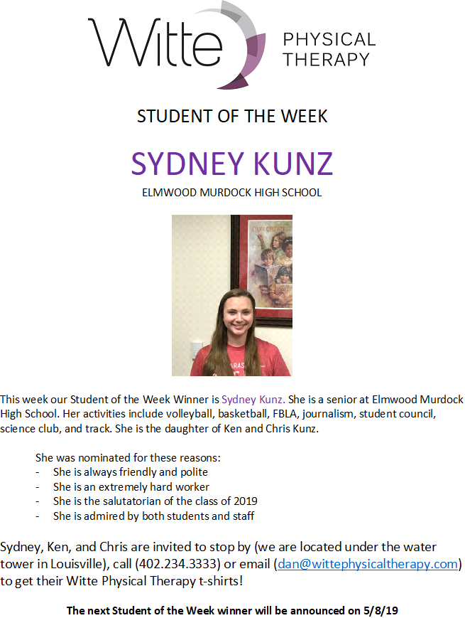 Student of the week SK