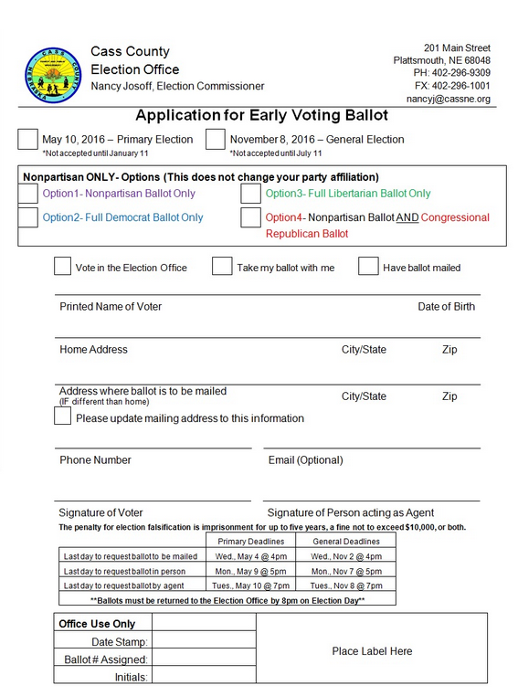 early ballot
