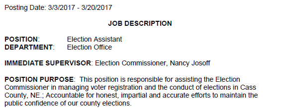 election asst job